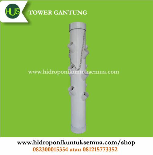tower vertical hidroponik gantung 12 lubang tanam
